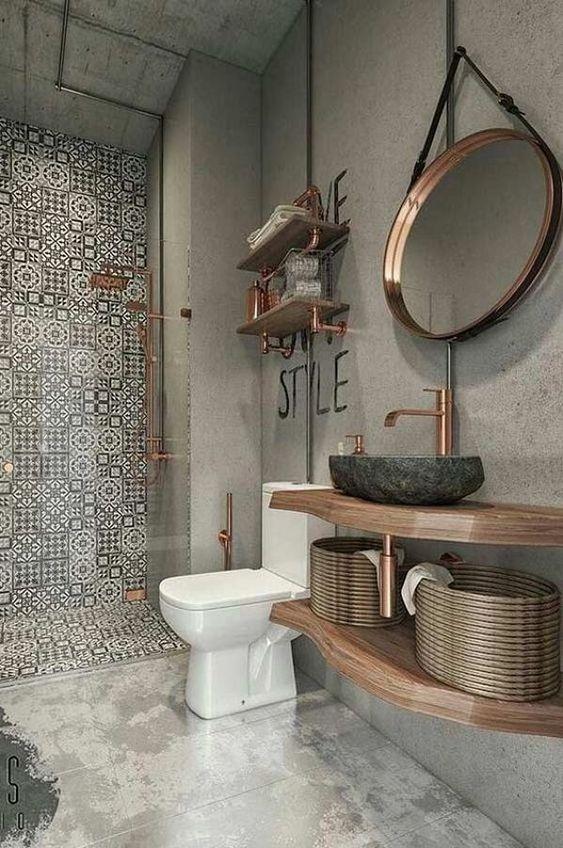 banheiro cuba colorida artesanal pedra