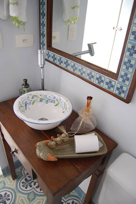 banheiro cuba colorida artesanal