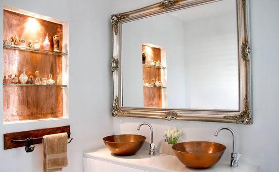 banheiro cuba colorida cobre