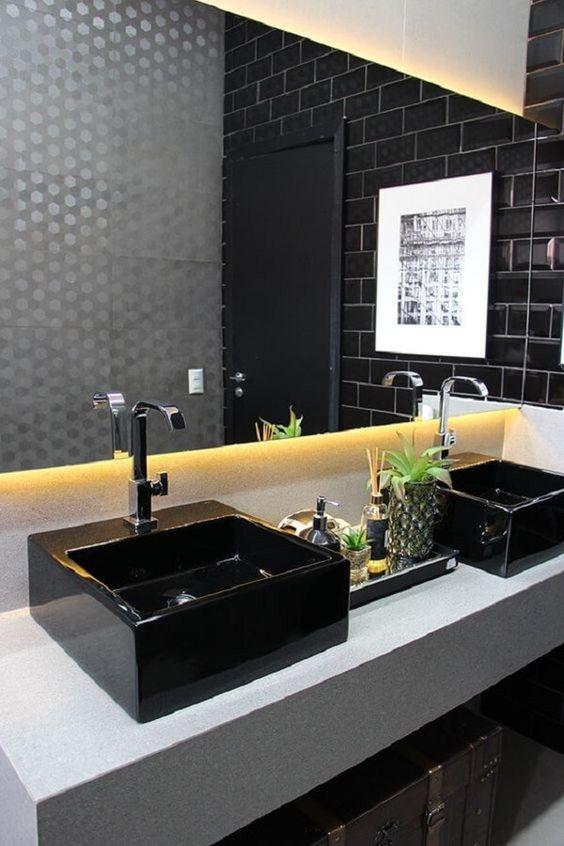 banheiro cuba colorida dupla
