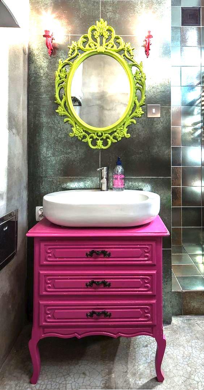 banheiro decoraçao colorida