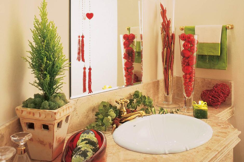 Decora o de natal para banheiros - Adornar la casa en navidad ...