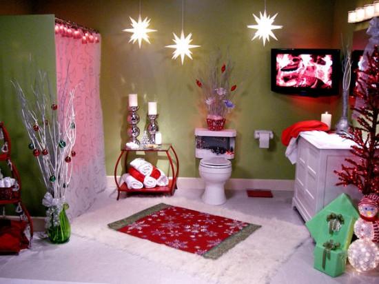 banheiro decorado natal