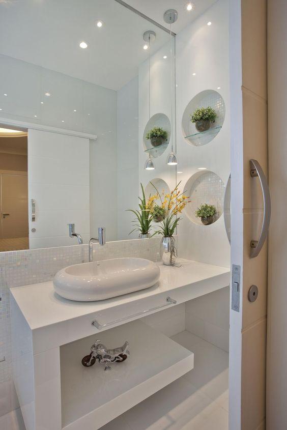banheiro decorado plantas