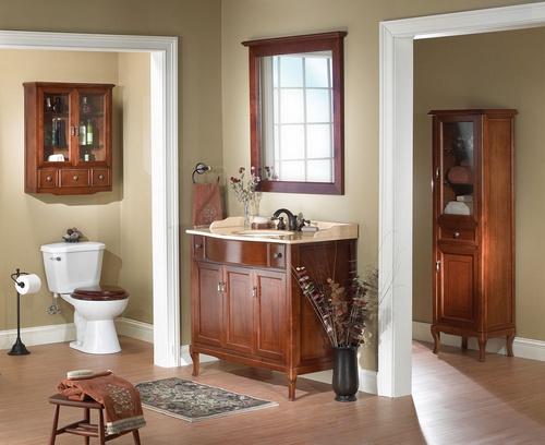 banheiro decorado rustíco em madeira