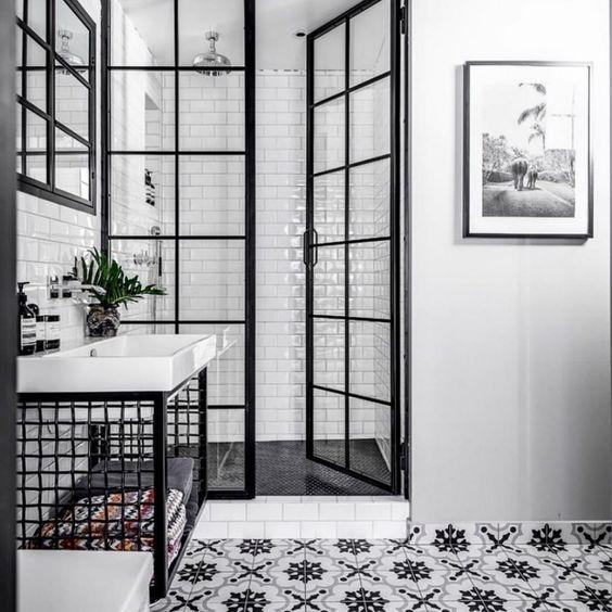 banheiro preto box