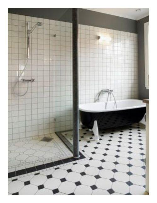 banheiro preto branco banheira preta