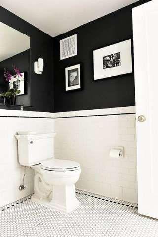 banheiro preto branco