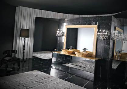 banheiro preto moderno