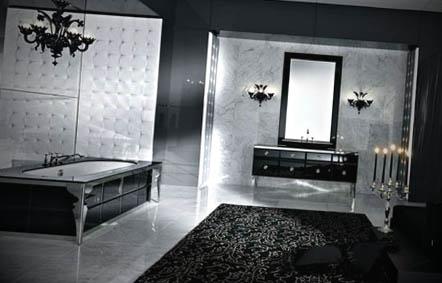 banheiro preto vintage