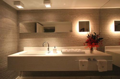 banheiros bancadas porcelanato