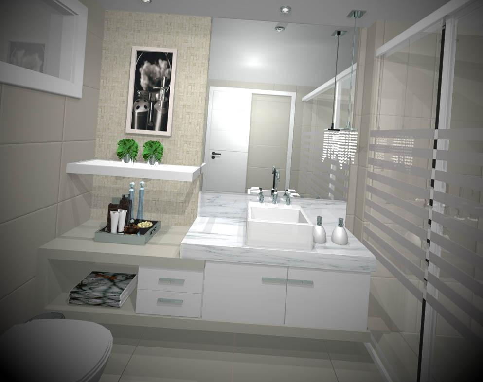 banheiros decorados e modernos
