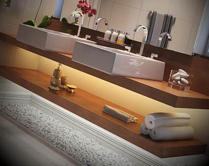 banheiros decorados plantas