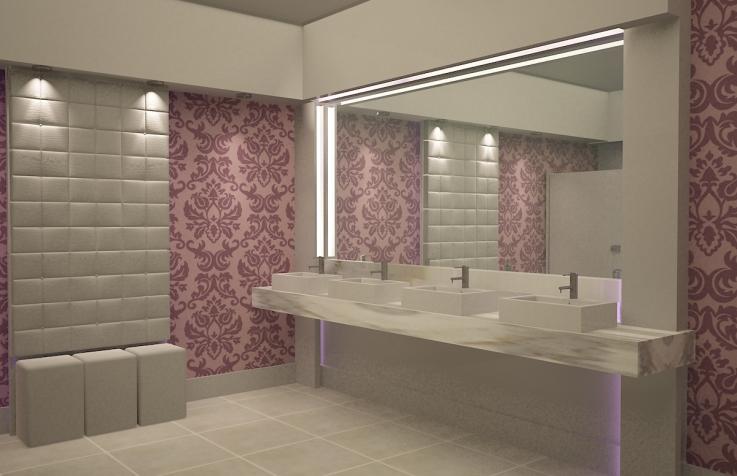 banheiros femininos tendencias