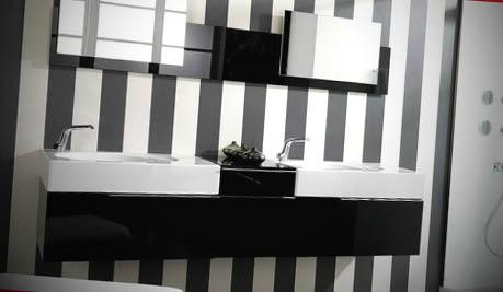 banheiros modernos pretos