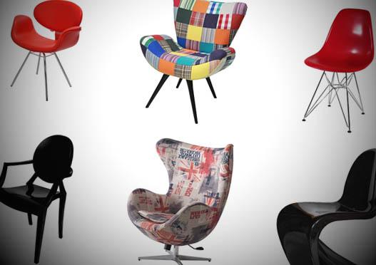 cadeiras e poltronas decorativas e com muito design