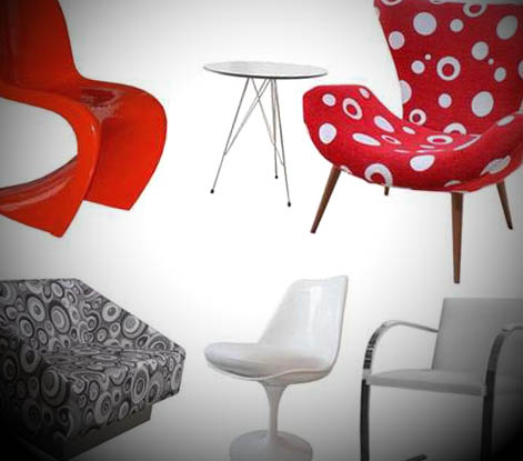 cadeiras para sala estilo retrô