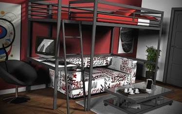 cama elevada moderna