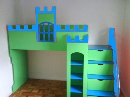 cama-infantil-com-escada-ideias