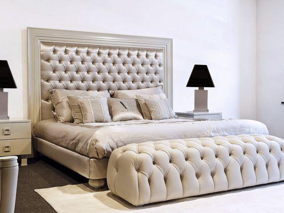 cama moderna casal branca