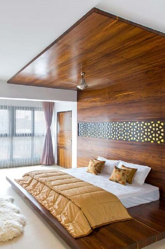 cama moderna madeira japonesa