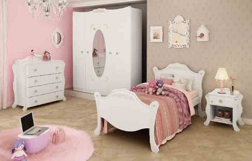 cama para quarto juvenil linha provencal