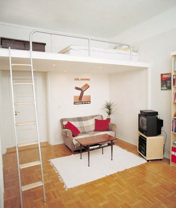 cama suspensa apartamento simples