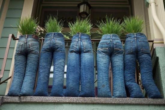 canteiros jeans velhos 4