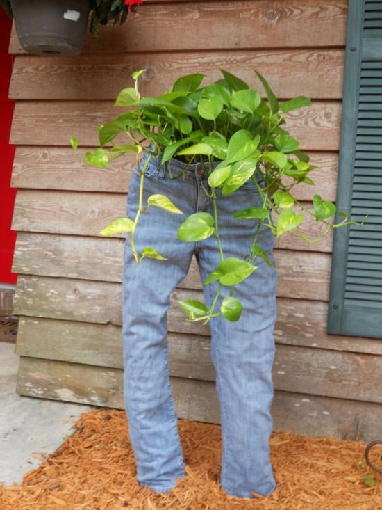 canteiros jeans velhos 5