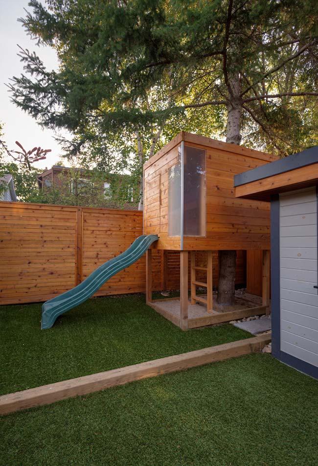 casa na arvore simples madeira