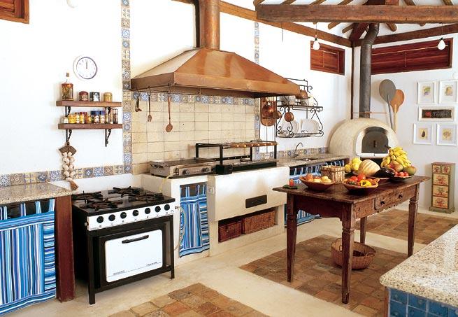 como decorar cozinha rustica