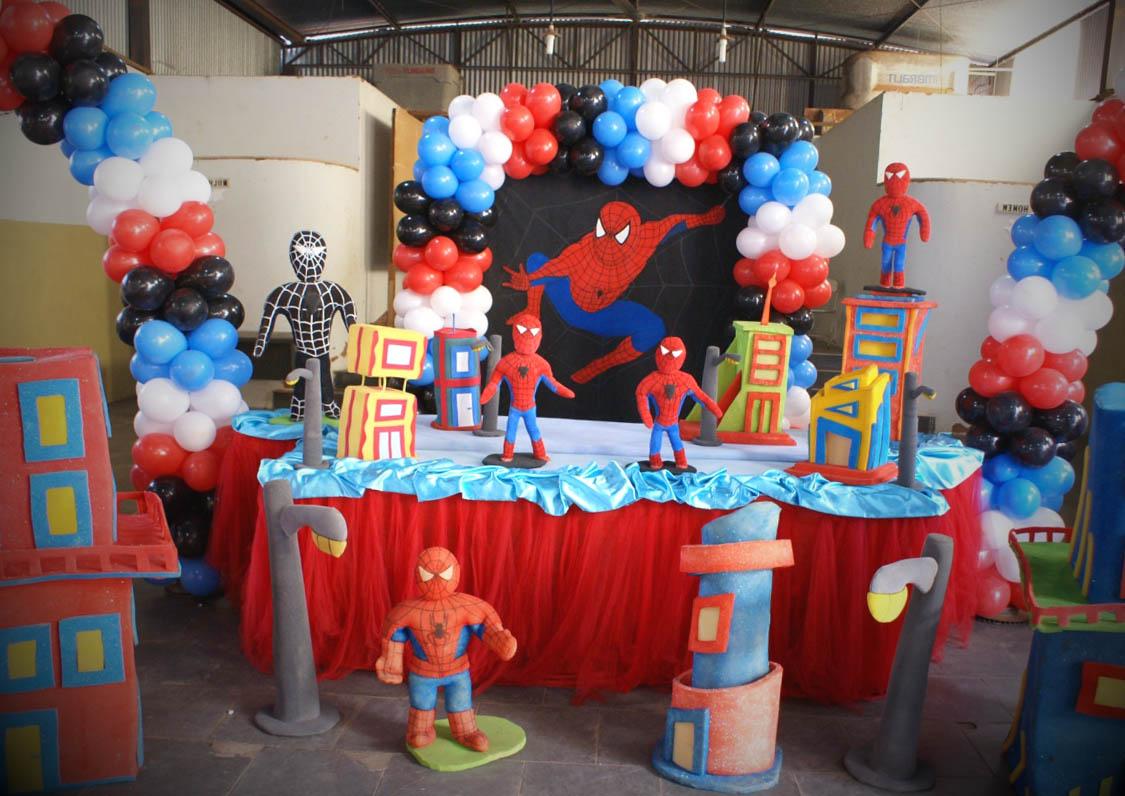 como decorar festa homem aranha
