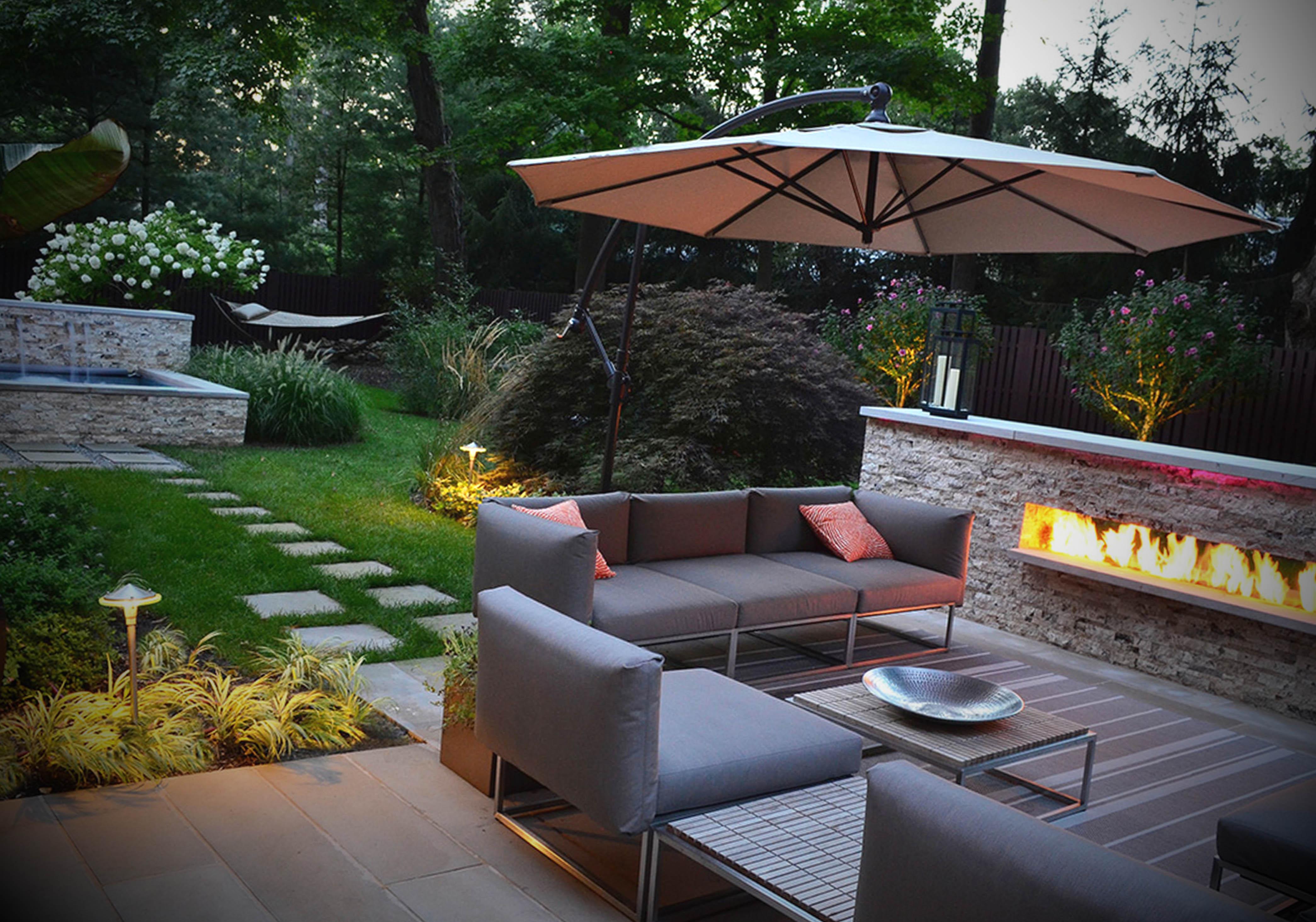 como decorar jardim externo