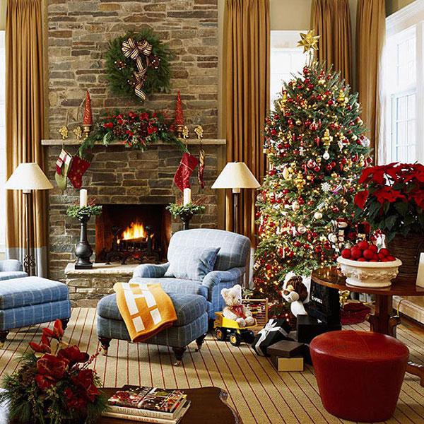 como decorar sala estar para natal