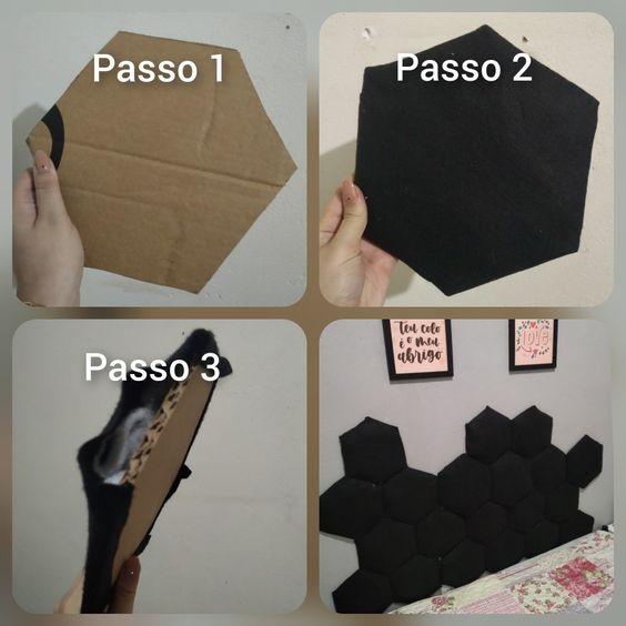 como fazer cabeceira de papelao 1