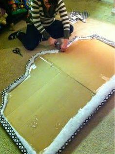 como fazer cabeceira de papelao 7