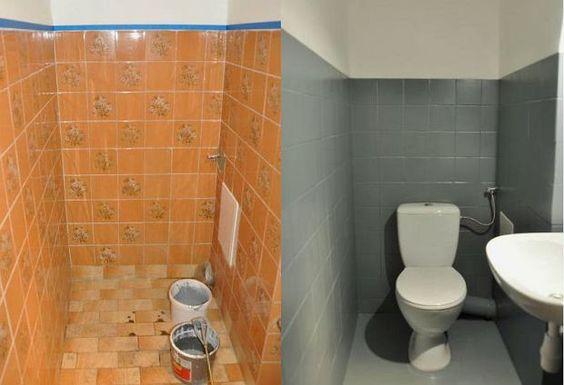 como pintar azulejos do banheiro 3