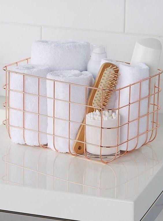 como usar aramado na decoracao banheiro 1