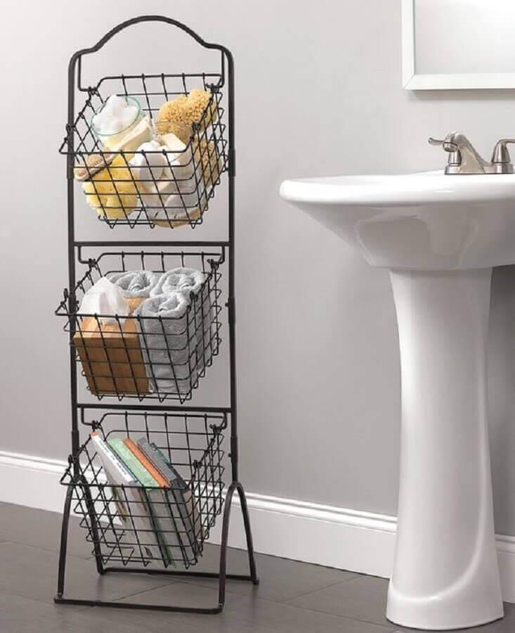 como usar aramado na decoracao banheiro