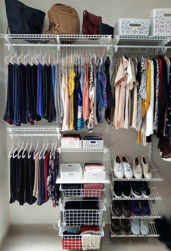 como usar aramado na decoracao closet 1