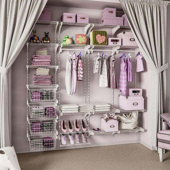 como usar aramado na decoracao closet