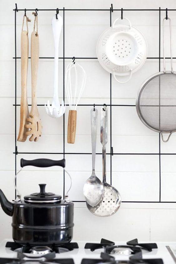 como usar aramado na decoracao cozinha 1