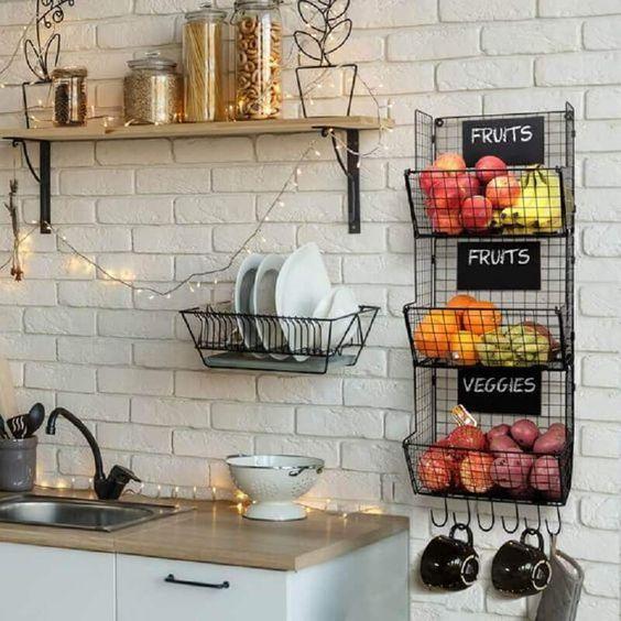 como usar aramado na decoracao cozinha
