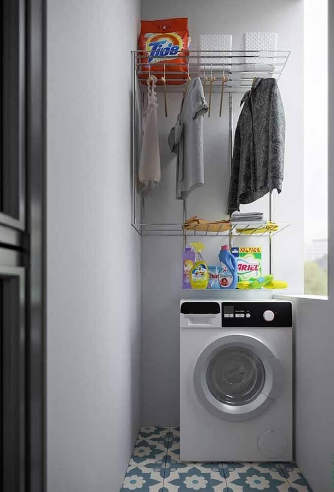 como usar aramado na decoracao lavandaria
