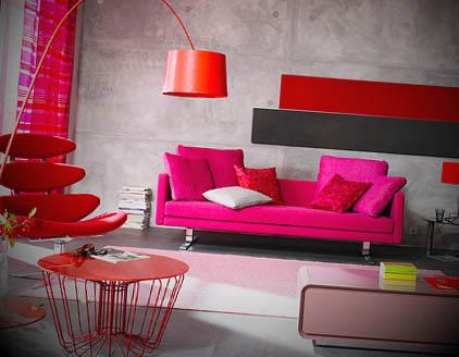 cor rosa na decoracao
