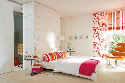 cores para quarto vermelho