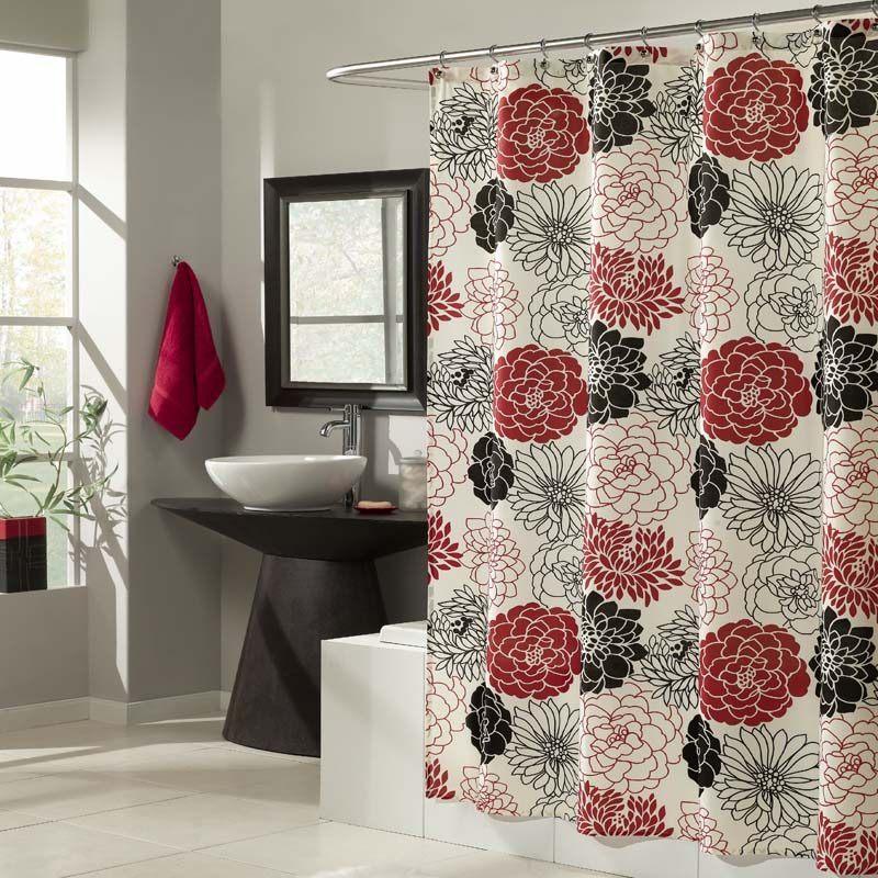 cortina de casa de banho florida