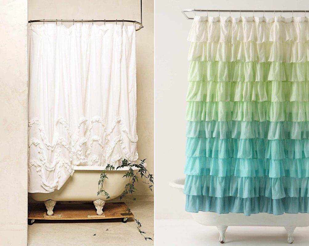 cortinas duche romanticas casa banho
