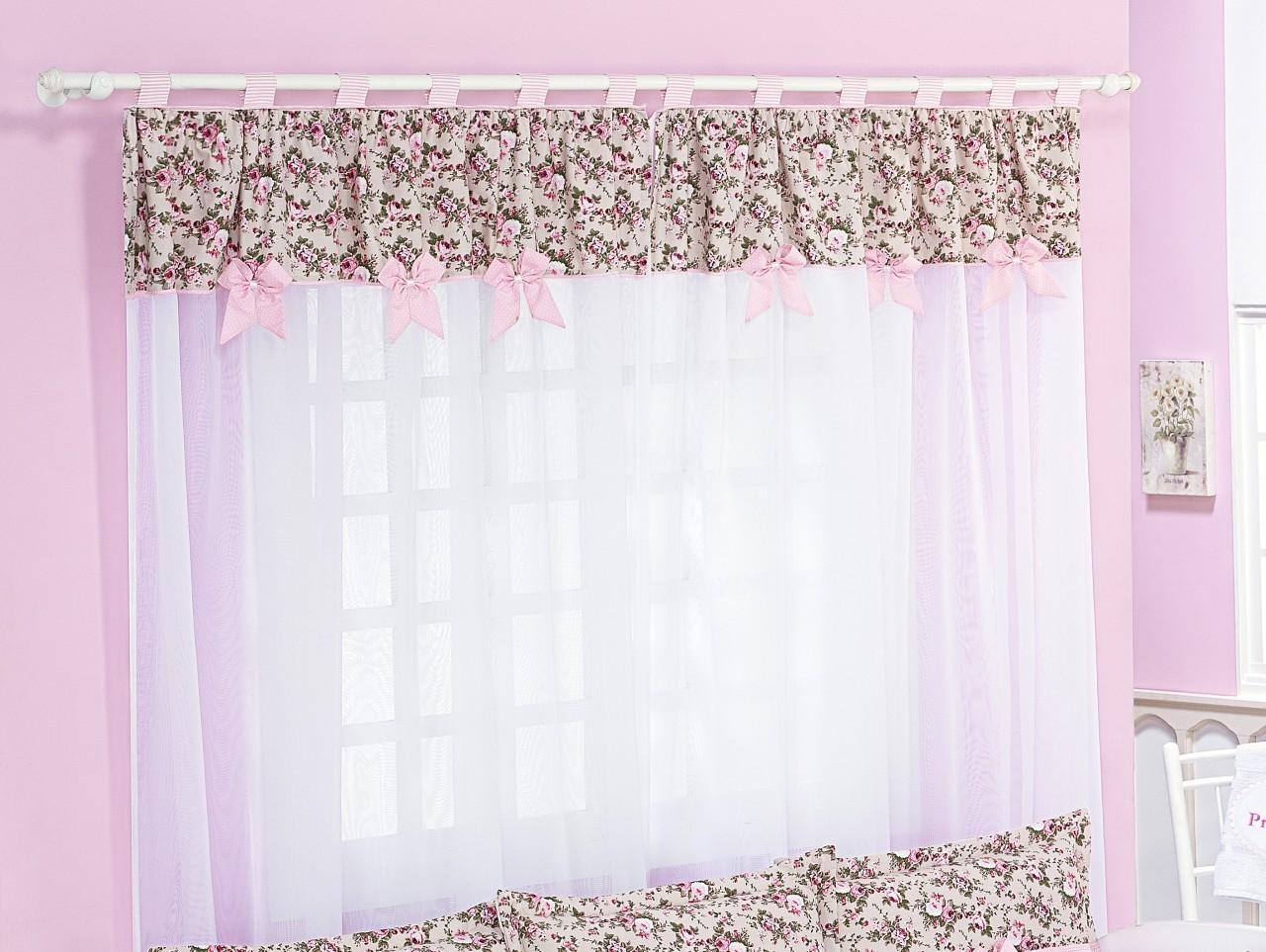 cortinas para quarto de bebe feminino