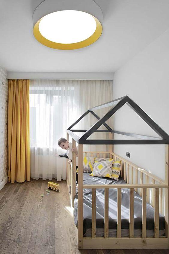 cortinas quarto infantil amarela